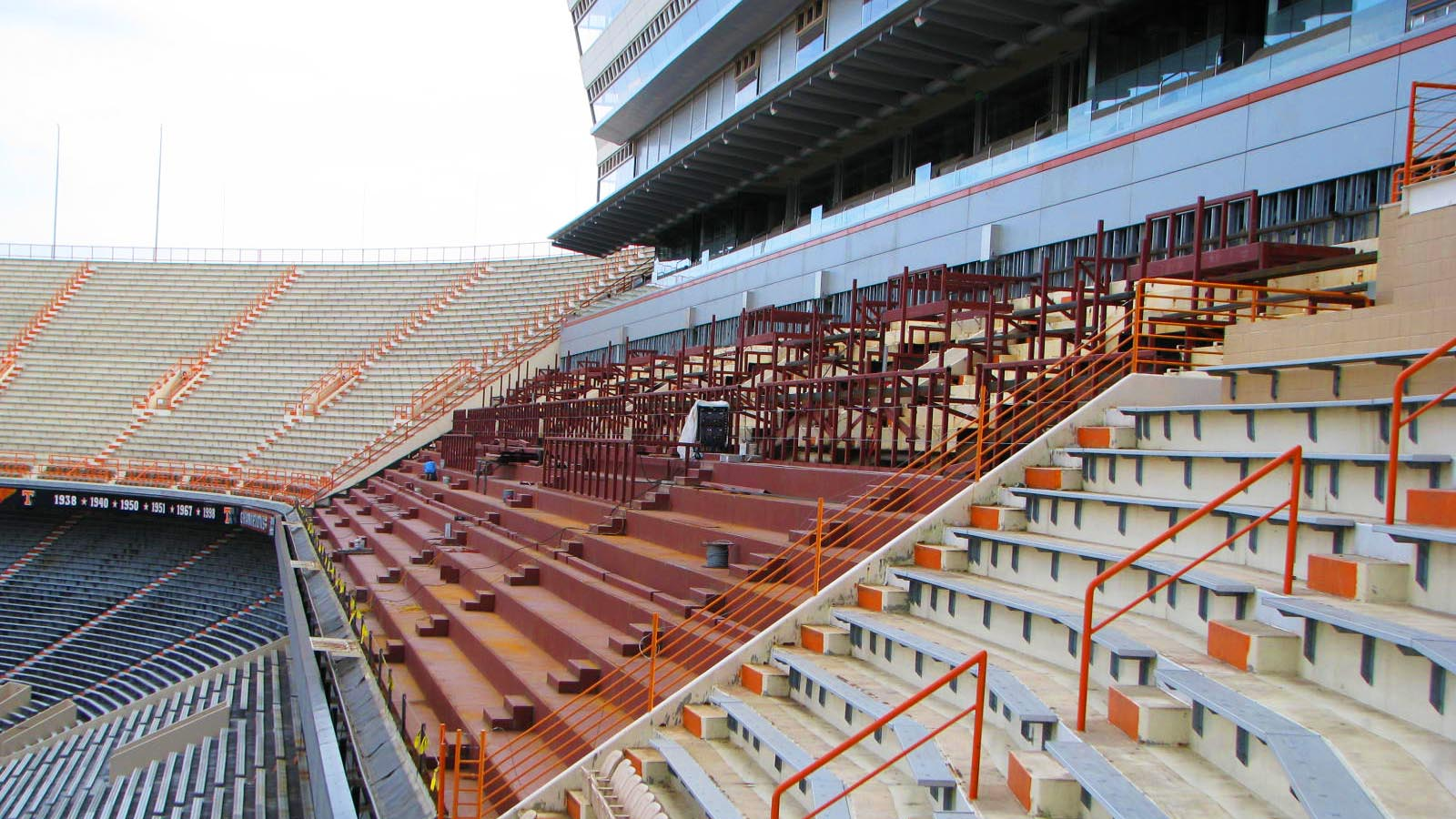 Neyland Stadium Steel Inside