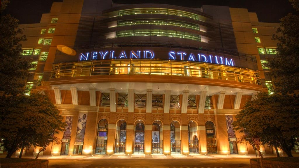Neyland Stadium Steel at Night