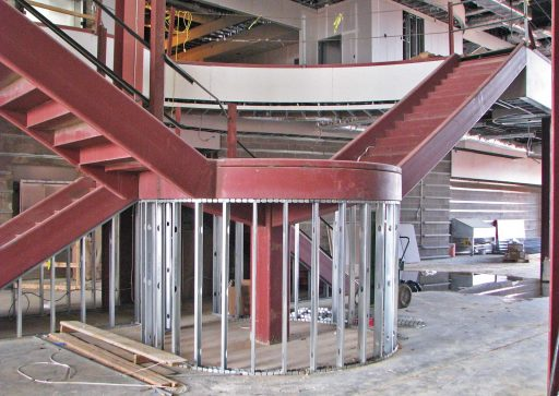 Stair for Mississippi State University Mize Pavilion In Progress